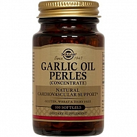 Солгар Чесночное масло Перлес 100 капсул Solgar garlic oil perles